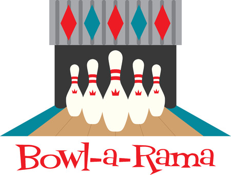 alleys: Looking for the perfect Birthday or Christmas gift Embroider this design on clothes, towels, pillows, gym bags, quilts, t-shirts, jackets or wall hangings for your bowling enthusiasts! Illustration