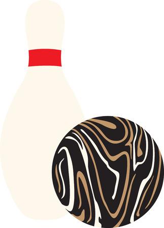 Vous recherchez le cadeau d'anniversaire parfait ou cadeau de Noël Broder cette conception sur les vêtements, serviettes, oreillers, sacs de sport, des couettes, des t-shirts, vestes ou des tentures murales pour vos amateurs de bowling! Banque d'images - 46606476