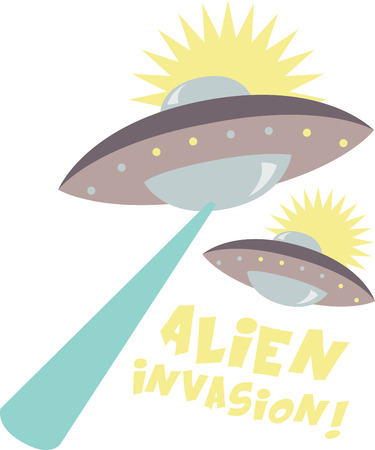 Aliens are popular among kids.  Perfect for a bib, shirt or more for every UFO-loving kid who wants to be surrounded by his alien pals!