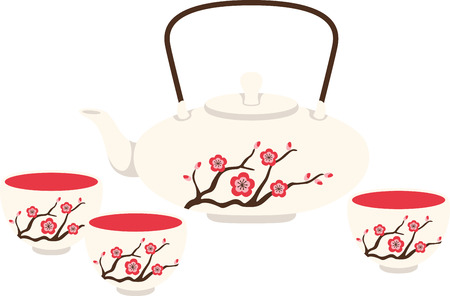 to get warm: Its not just tea time, its a celebration!  Get this Japanese staple on your home decor and warm up table linen and more with this steamy design!