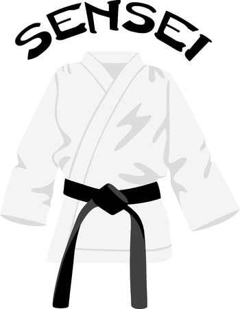 gi: Looking for the perfect Birthday or Christmas gift Embroider this design on clothes, towels, pillows, gym bags, quilts, t-shirts, jackets or wall hangings for your martial arts enthusiasts! Illustration