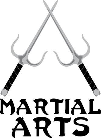 truncheon: Looking for the perfect Birthday or Christmas gift Embroider this design on clothes, towels, pillows, gym bags, quilts, t-shirts, jackets or wall hangings for your martial arts enthusiasts! Illustration