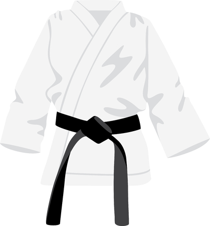 Looking for the perfect Birthday or Christmas gift Embroider this design on clothes, towels, pillows, gym bags, quilts, t-shirts, jackets or wall hangings for your martial arts enthusiasts!  イラスト・ベクター素材