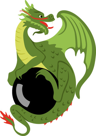 dragon illustration Çizim