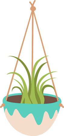植物は、あらゆるスペースにユニークなスタイルと応援を加えます。 あなたのプロジェクトにこのデザインで春の精神を得る。  イラスト・ベクター素材