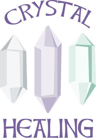 Profiteer van de helende energieën van de kristallen. Dit ontwerp is groot op bakken, kleding, beddengoed en nog veel meer voor de gelovigen in de alternatieve geneeskunde.