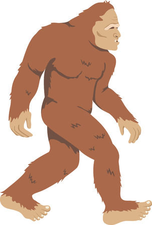 mythological character: Roam the evergreen state and encounter Bigfoot at the Sasquatch crossing with this design on framed embroidery, clothing and more. Illustration