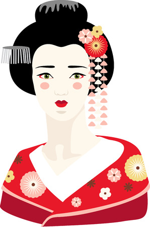 This adorable Geisha can add an oriental flavor on quilts, wall hangings, bags, garments, cushions and lots more. Illustration