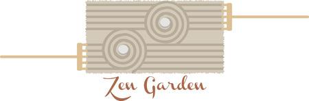 Een balans van asymmetrie is essentieel om de Japanse tuin! Ontspan met dit ontwerp op ingelijst borduurwerk, keuken linnen, kussens en nog veel meer.
