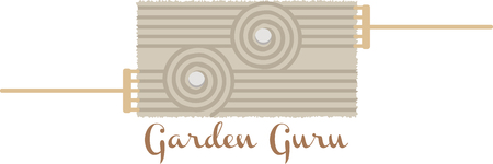 Een balans van asymmetrie is essentieel voor de Japanse tuin! Ontspan met dit ontwerp op ingelijst borduurwerk, keuken linnen, kussens en nog veel meer.