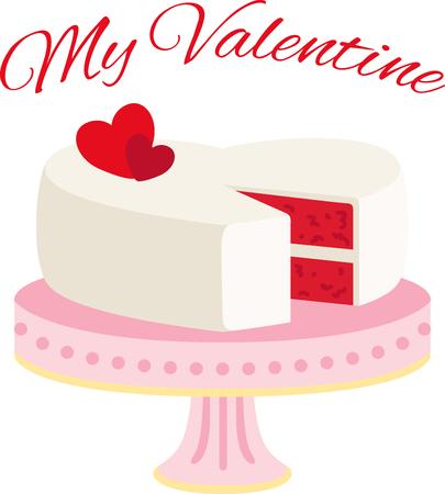 あなたのバレンタインを甘くして休日のプロジェクトのこのデザインでいくつかの愛を示します。  イラスト・ベクター素材