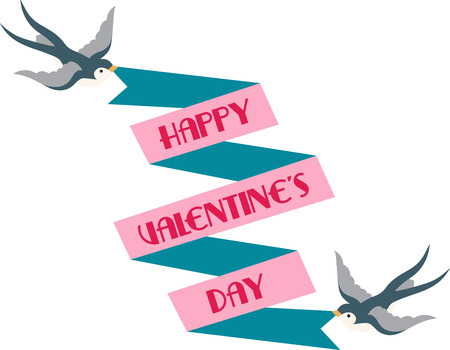 Love is in the air!  Set your hearts aflutter with this design on your holiday projects! Ilustração