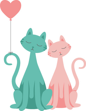 cat s: Sweeten up your Valentines Day and show some love with this design on your holiday projects.