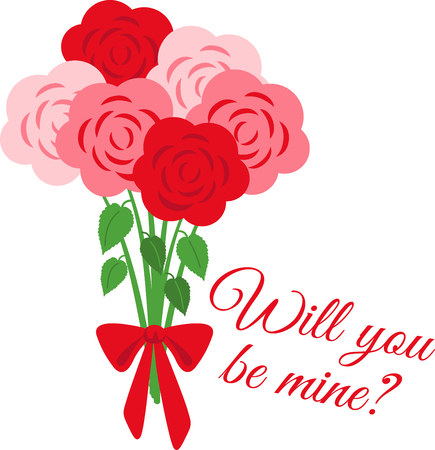 No matter what the reason or occasion might be, roses say it the best.  Make someone feel loved with this design on your gifts for them! Ilustração