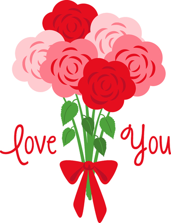 riband: No matter what the reason or occasion might be, roses say it the best.  Make someone feel loved with this design on your gifts for them! Illustration