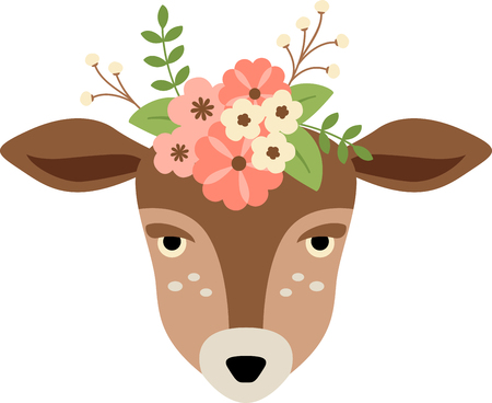 doe: This doe will make a stunning addition to any home decor or as a perfect gift for the wildlife lover. Illustration