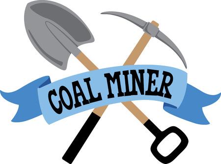 Een groot ontwerp op carryalls, sweatshirts, jas ruggen, quilts, wandkleden, en ergens anders je maar kunt bedenken om uw favoriete mijnwerker herkennen.