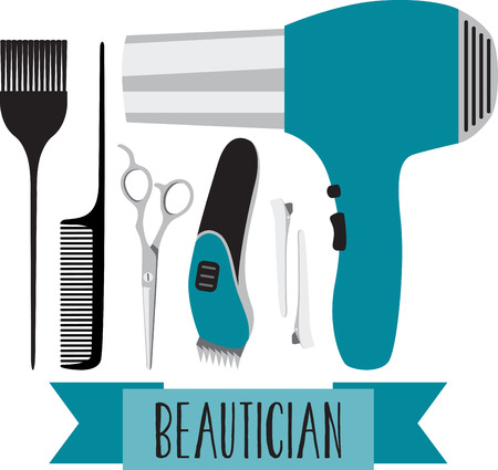 beautician: A great design on capes, sweatshirts, jacket backs, quilts, wall hangings, and anywhere else you can think of to recognize your favorite hairdresser!
