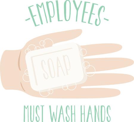 Display your responsibility to spread the word about cleanliness in the workplace with this design on framed embroidery!