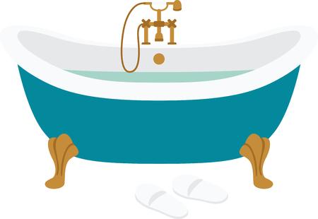 이 수건 아름다운 욕실 장식, 액자 자수, 목욕 매트 등을 사용하여 욕조에 환영하는 분위기를! 일러스트