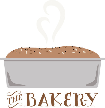De geur van vers gebakken brood is de meest verleidelijke geur op de planeet. Krijg dit smakelijke ontwerp op uw home projecten!