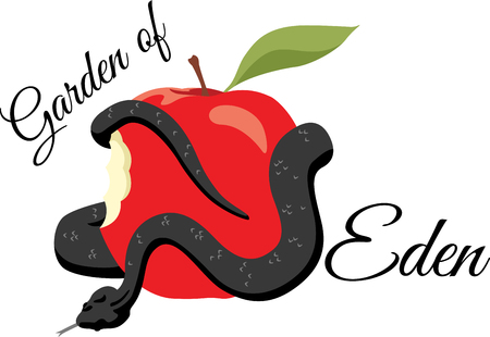 garden of eden: This old testament inspired design will be a great addition to your collection of embroidery designs and a fun way to tell a story from the Bible.