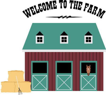 Farms and farm animals are an enduring theme with the young and young at heart.  Create unique gifts for loved ones with this design on t-shirts, sweatshirts, totes, wall hangings and more!