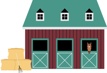 stables: Farms and farm animals are an enduring theme with the young and young at heart.  Create unique gifts for loved ones with this design on t-shirts, sweatshirts, totes, wall hangings and more!