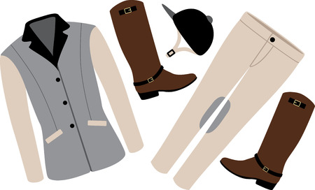 riding boot: Personalize equestrian clothing with grace, beauty and power, with this design on horse riding gear including saddle pads, saddle cloths, riding jackets and riding wear.