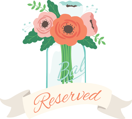 mason: This heartwarming design will make a great keepsake for the newlyweds on framed embroidery, bed covers and personalized gifts. Illustration