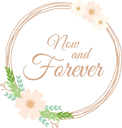 heartwarming: This heartwarming design will make a great keepsake for the newlyweds as corners and frames on framed embroidery, bed covers and personalized gifts. Illustration