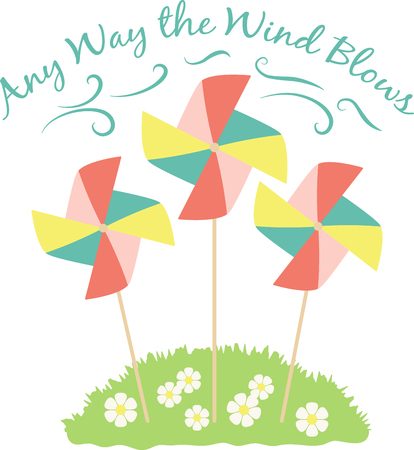 pinwheel toy: Pinwheels are great for spring garden decorating! Create a lovely splash of color to your garden, flower beds, and outdoor projects with this design.