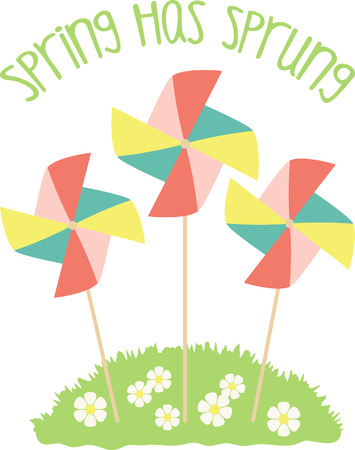 pinwheels: Pinwheels are great for spring garden decorating! Create a lovely splash of color to your garden, flower beds, and outdoor projects with this design.