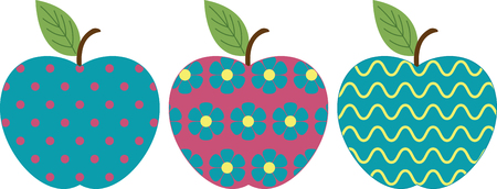fruit stem: Apples are a perennial fall favorite.  Get the flavors of the season and add country charms with this design as corners and frames.