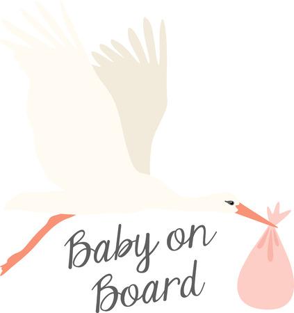 Bienvenue le nouveau venu avec ce symbole classique de ramener chez eux un nouveau bébé! Cette conception est parfaite sur les décorations de douche de bébé, paniers-cadeaux et plus encore.
