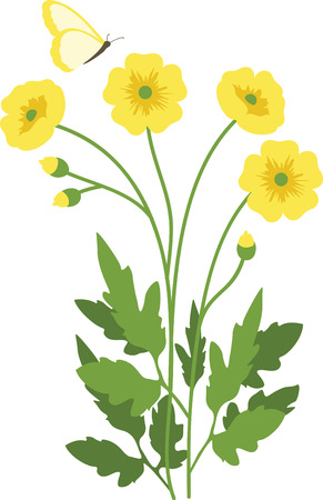 appear: Can you see the sunny little buttercup heads appear  Mark the arrival of spring with this design on kitchen linen, table mats, framed embroidery and more!