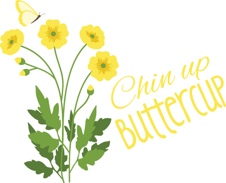 Can you see the sunny little buttercup heads appear  Mark the arrival of spring with this design on kitchen linen, table mats, framed embroidery and more!