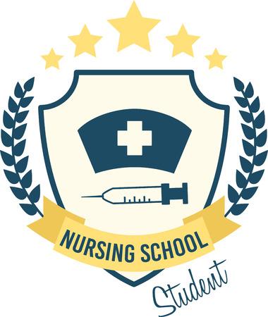 Qui è la ricetta perfetta per il divertimento. Ottenere questo design carino per i più piccoli infermiere t-shirt, felpe, felpe e altro. Archivio Fotografico - 51675557