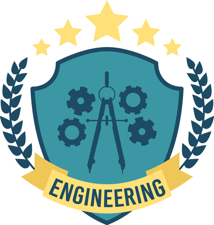 escutcheon: The feeling of awed wonder that science can give us is unparalleled.  This design is perfect for your engineers on t-shirts, lab coats, shirts, jackets and more.