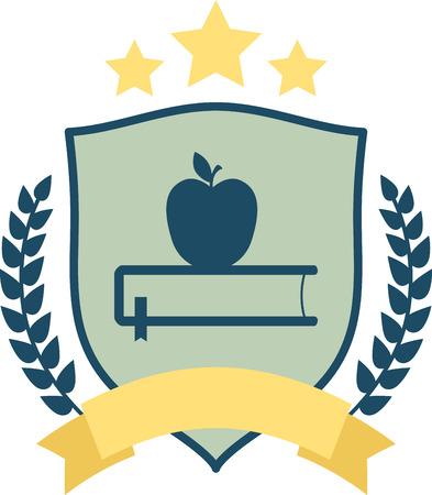 il momento di attrezzarsi per l'anno scolastico! Ottenere questo design su incorniciate ricamo, abbigliamento, borse e più per il vostro insegnante preferito! Archivio Fotografico - 51672588
