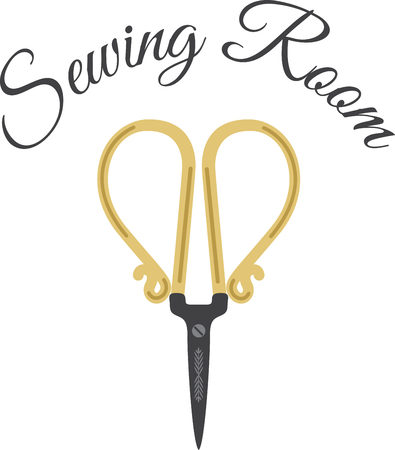 snip: Looking for a light, elegant crafty design Stitch a perfect memory every time with this design on gifts for your sewing enthusiasts! Illustration