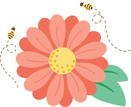 brighten: Looking for a way to brighten up for spring  Wake your room up instantly with this eye-catching busy bee design! Illustration