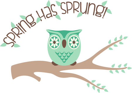 sprung: If you like everything owls, you will love this design on your indoor projects.  Keep cabin fever away by bringing this owl to life!