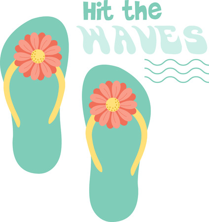 plugger: Relax in style at the beach, while also staying protected!  Bring the spirit of the sea in your indoor projects with this design. Illustration