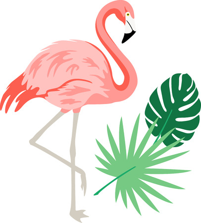 Spread cheery tropical flavor around the home with this colorful flamingo design on throw pillows, napkins, sweatshirts, bags and more.
