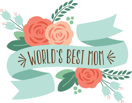 riband: Celebrate Mom all year long with this special design on t-shirts, sweatshirts, totes, wall hangings and more! Illustration