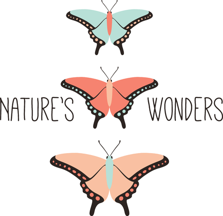 One of natures great ambassadors, butterflies create wonder. Sew this design on little t-shirts and baby shirts for perfect gifts.
