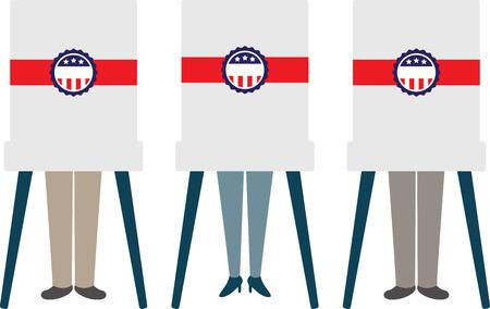 Visualizzare la responsabilità di diffondere la parola di democrazia e l'importanza del voto, con orgoglio, con questo design su borse, bandiere, t-shirt e altro ancora.