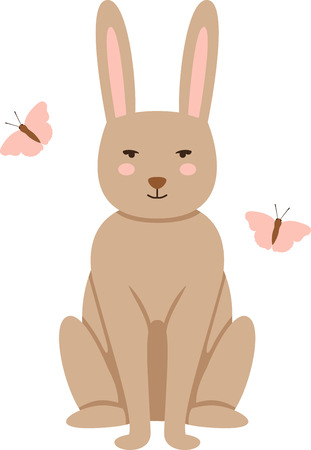 mariposa: Cute and fluffy bunny is ready for all the festivities! This design will be fabulous on all your Easter projects!