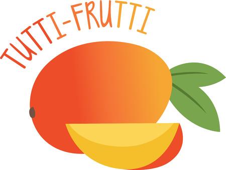 ランチョン マットとリネンに熟したとジューシーなマンゴーと夏の素晴らしい外観を作成!